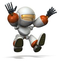 タッチダウン直前のキュートなロボット
