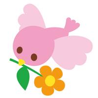 ピンク色の小鳥