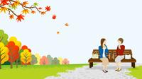 秋の公園 二人の女性 ランチ