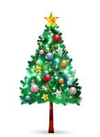 クリスマス モミの木 冬 アイコン