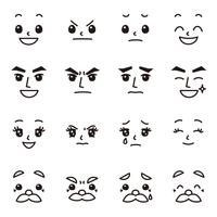 顔面 表情 擬人化用 子供 男性 女性 老人 セット