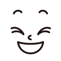 顔 大笑い