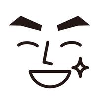 顔 男性 笑顔