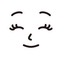 顔 女性 笑顔