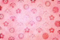 年賀状 梅 和柄 背景