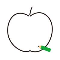 鉛筆 リンゴ テキスト欄