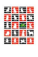 赤と黒のモダンな犬のグリーティングカード