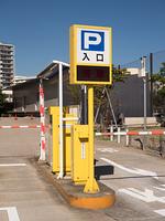 駐車場の入り口