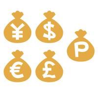 金袋 円 ドル ユーロ ポンド ポイント