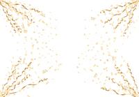 金色の紙吹雪とリボンのフレーム