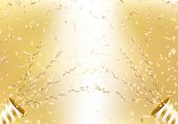 クラッカーと金色の背景