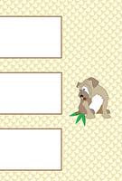 犬のイラストのシンプルな写真フレームのポストカード