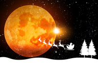 クリスマス 雪 月 背景