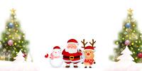 クリスマス モミの木 雪 背景