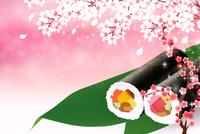 節分 恵方巻 桜 背景