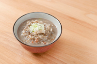 Genmai ojiya, Brown rice gruel containing mushrooms,