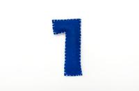 フェルトの数字 1