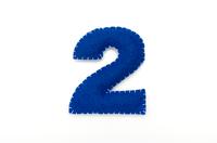 フェルトの数字 2