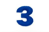 フェルトの数字 3