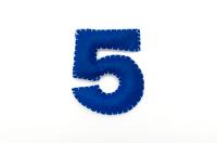 フェルトの数字 5