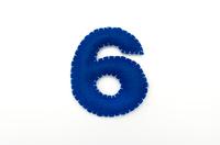 フェルトの数字 6