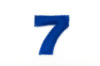 フェルトの数字 7