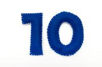 フェルトの数字 10