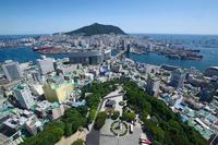 釜山タワーから見た釜山の街並み