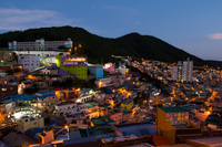 夕暮れの甘川文化村