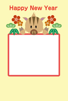 年賀状テンプレート写真(縦)