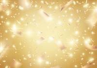 キラキラ舞い落ちる金色の紙吹雪