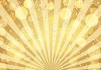 金 紙吹雪 放射状