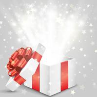 プレゼント箱から飛び出るキラキラの星