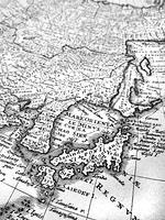 古い世界地図 日本