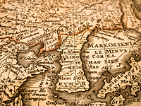 古い世界地図 朝鮮半島