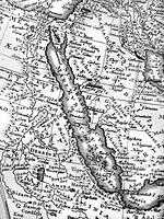 古い世界地図 紅海