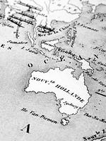 古い世界地図 オーストラリア