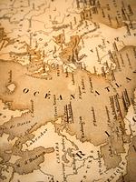 古い世界地図 大西洋