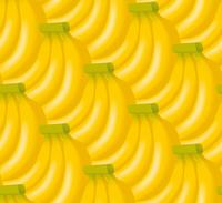 バナナの背景のイラスト