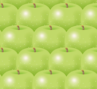 青リンゴの背景のイラスト