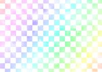虹色市松模様