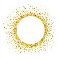 金色の紙吹雪の丸型フレーム