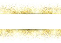 金色に光るバナー