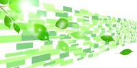 新緑 葉 テクノロジー 背景
