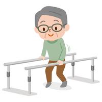 歩行訓練 シニア男性