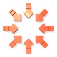 チームワークを表すアブストラクト3DCG