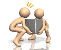 協力して重たい荷物を運ぶキャラクター