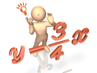 数学を解くキャラクター