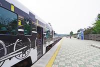 非武装地帯に設置された都羅山駅に停車するDMZトレイン