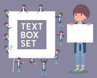flat type Mash hair women_text box